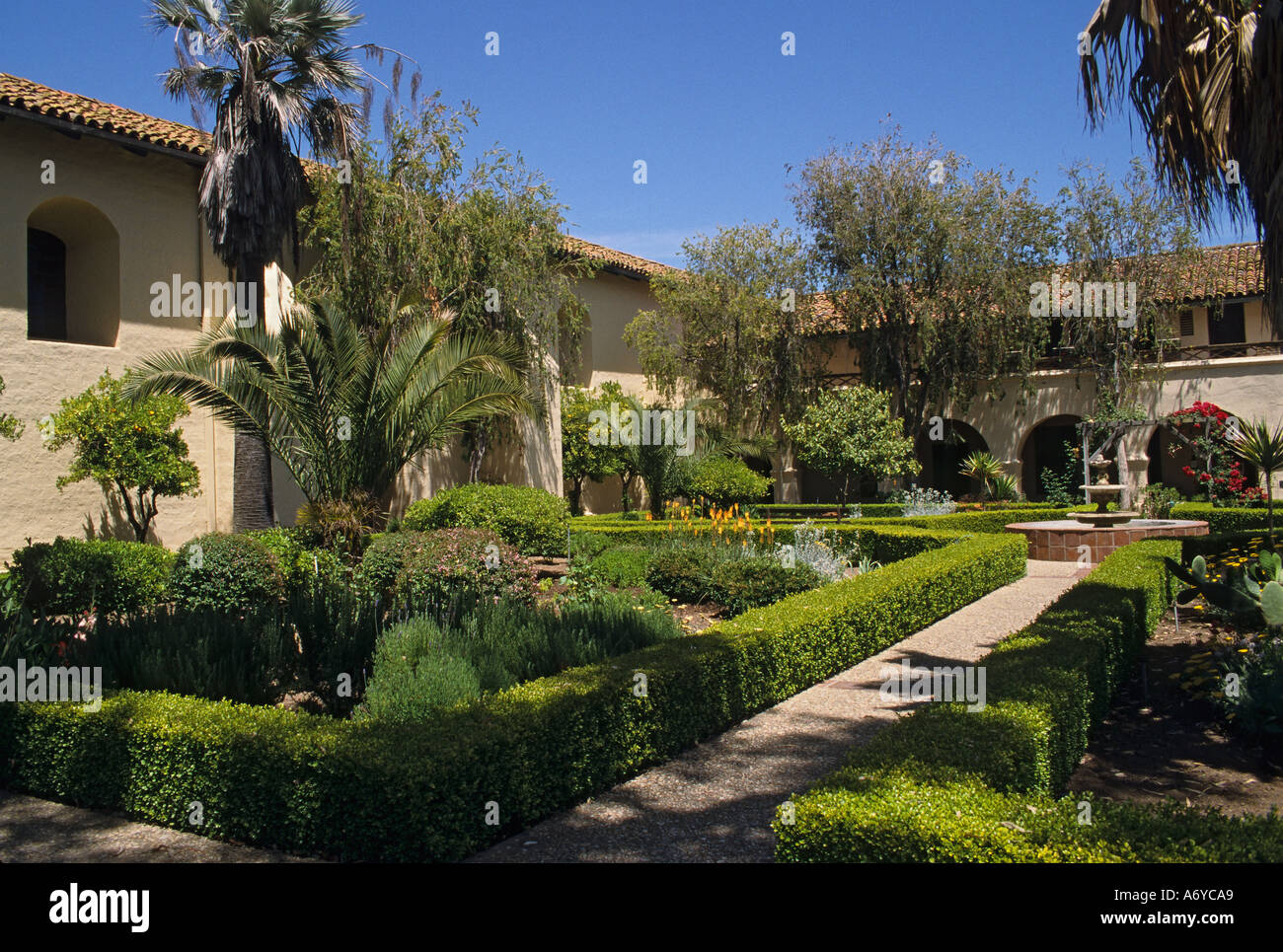 California San Miguel Arcangel Mission Garden