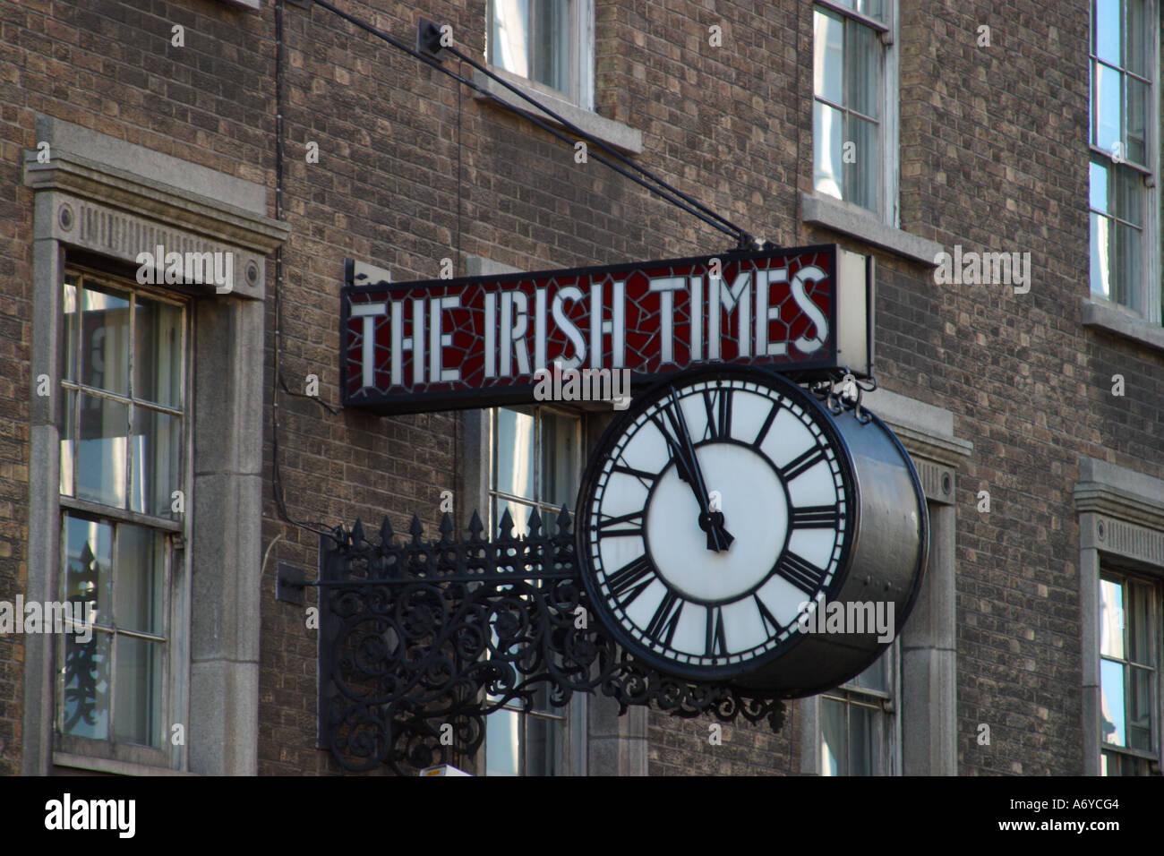 The irish times clock dublin ireland stock photo royalty free image 6670339 alamy - Irish times office dublin ...