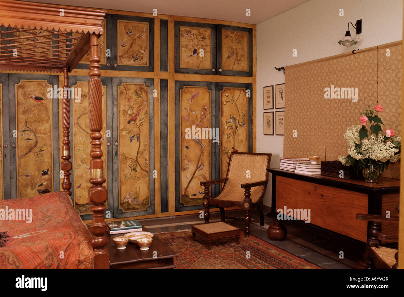 Colonial Style Bed Antique South Indian Storage Box Hand Painted Cupboards  In Home In Dehra Dun Himalayan Foot Hills Uttar P