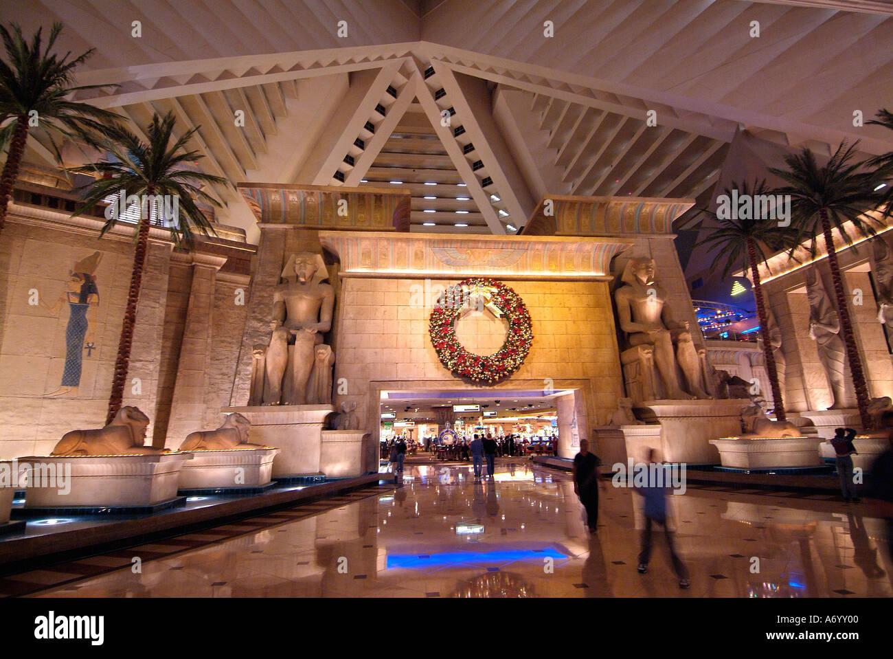 Interior of Luxor hotel Las Vegas Nevada Stock Photo, Royalty Free Image: 3813119 - Alamy