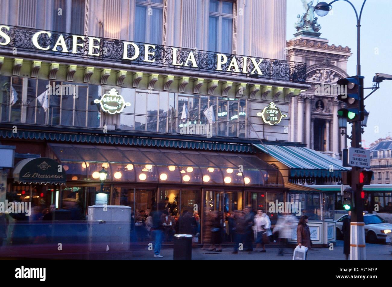 Paris France Cafe De La Paix
