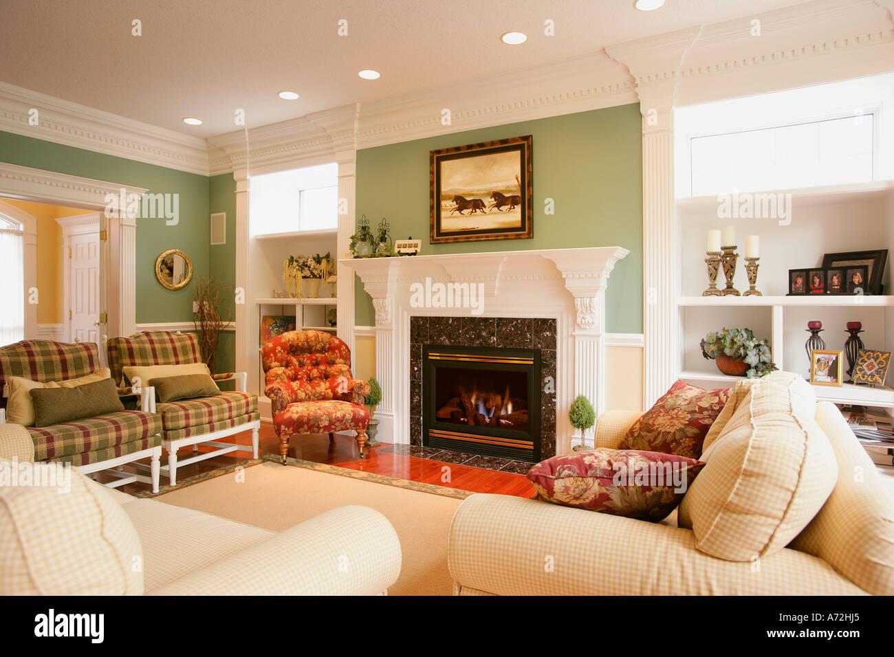 Stylish Sitting Room Stock Photo, Royalty Free Image: 6687460 - Alamy