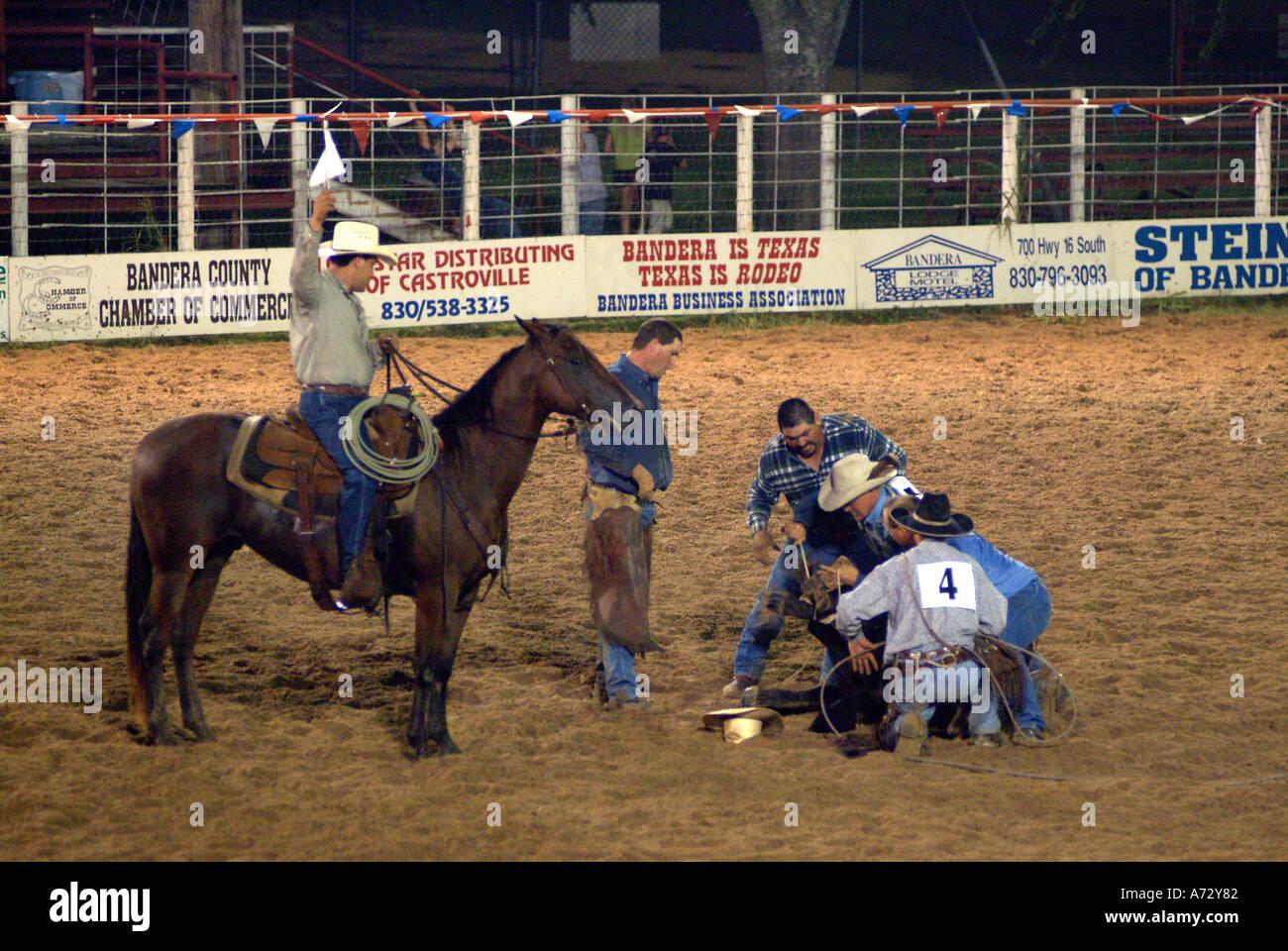 Cowboys Texan Rodeo In Bandera Texas Stock Photo Royalty
