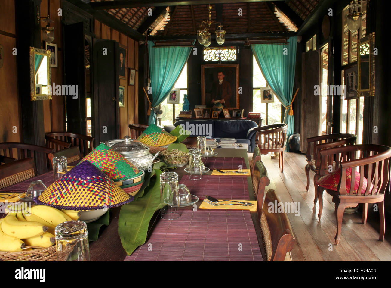 Interior Of A Traditional Malay House In Terengganu