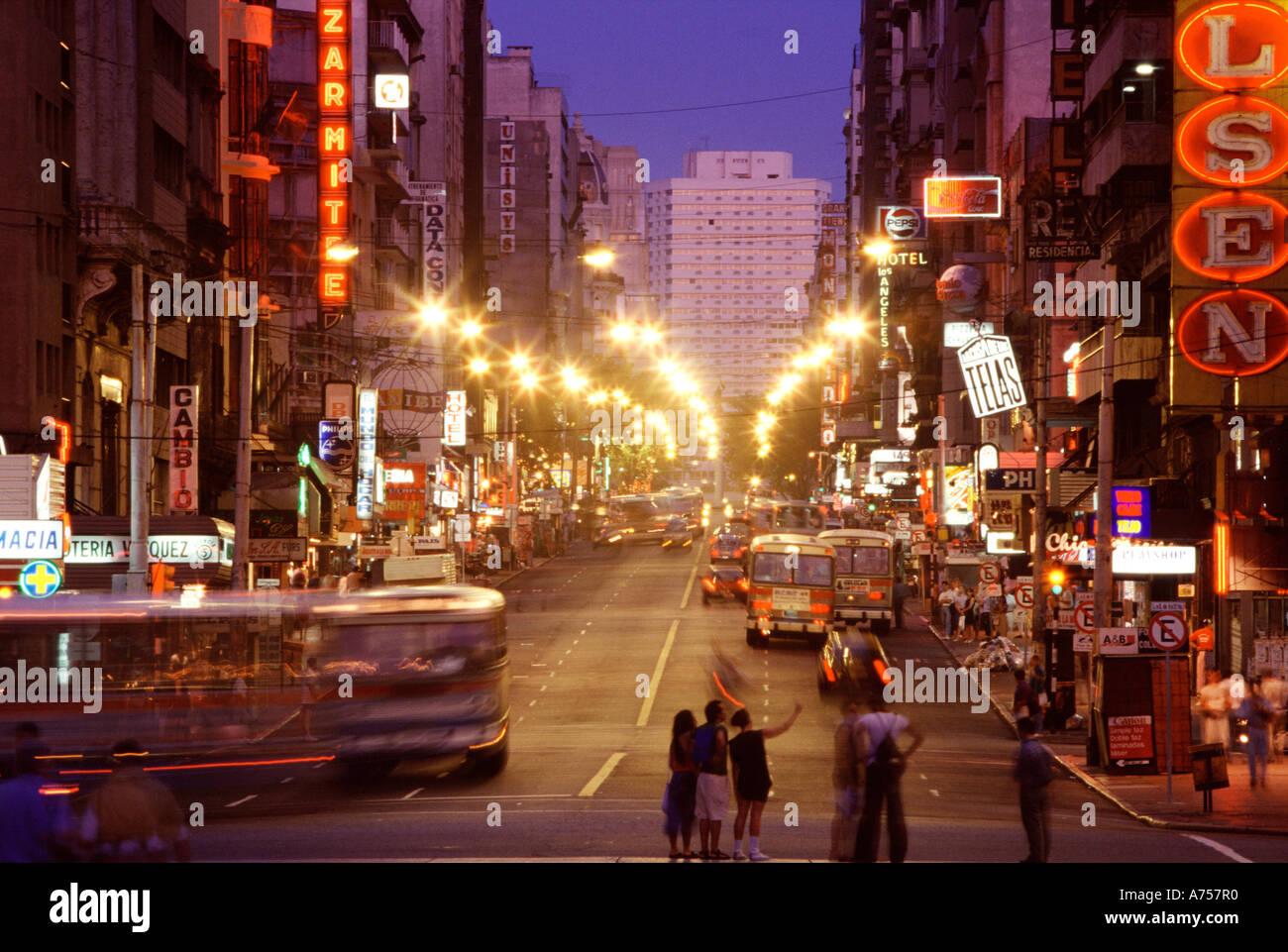 Montevideo Uruguay South America Avenida 18 de Julio at