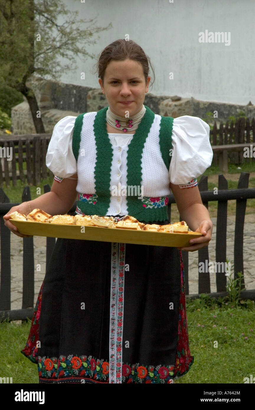 Traditional Costume And Cakes Holloko Nograd County
