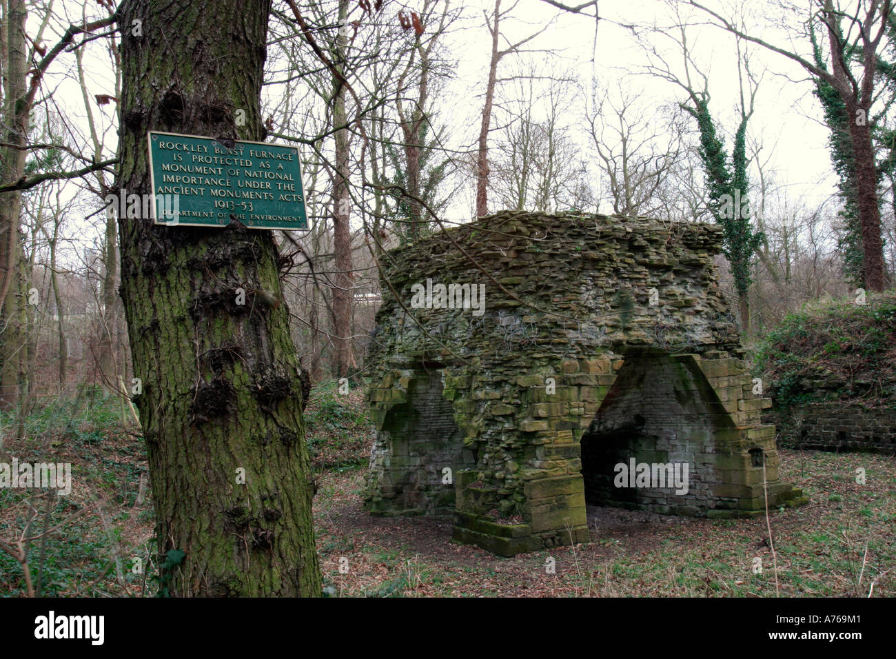 Footpaths Lead From Worsbrough Country Park To The Blast Furnace Dating Back 1652 And