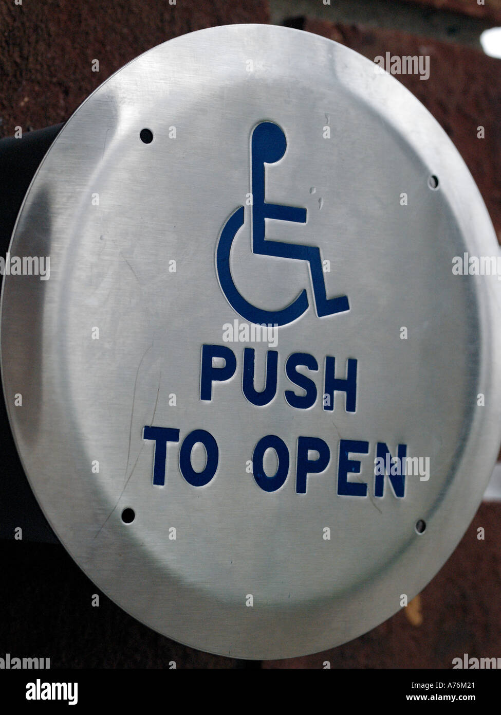 Activation button for handicapped automatic door opener at a public eductional institution Closeup detail of symbol & Automatic Door Symbol Stock Photos \u0026 Automatic Door Symbol Stock ...