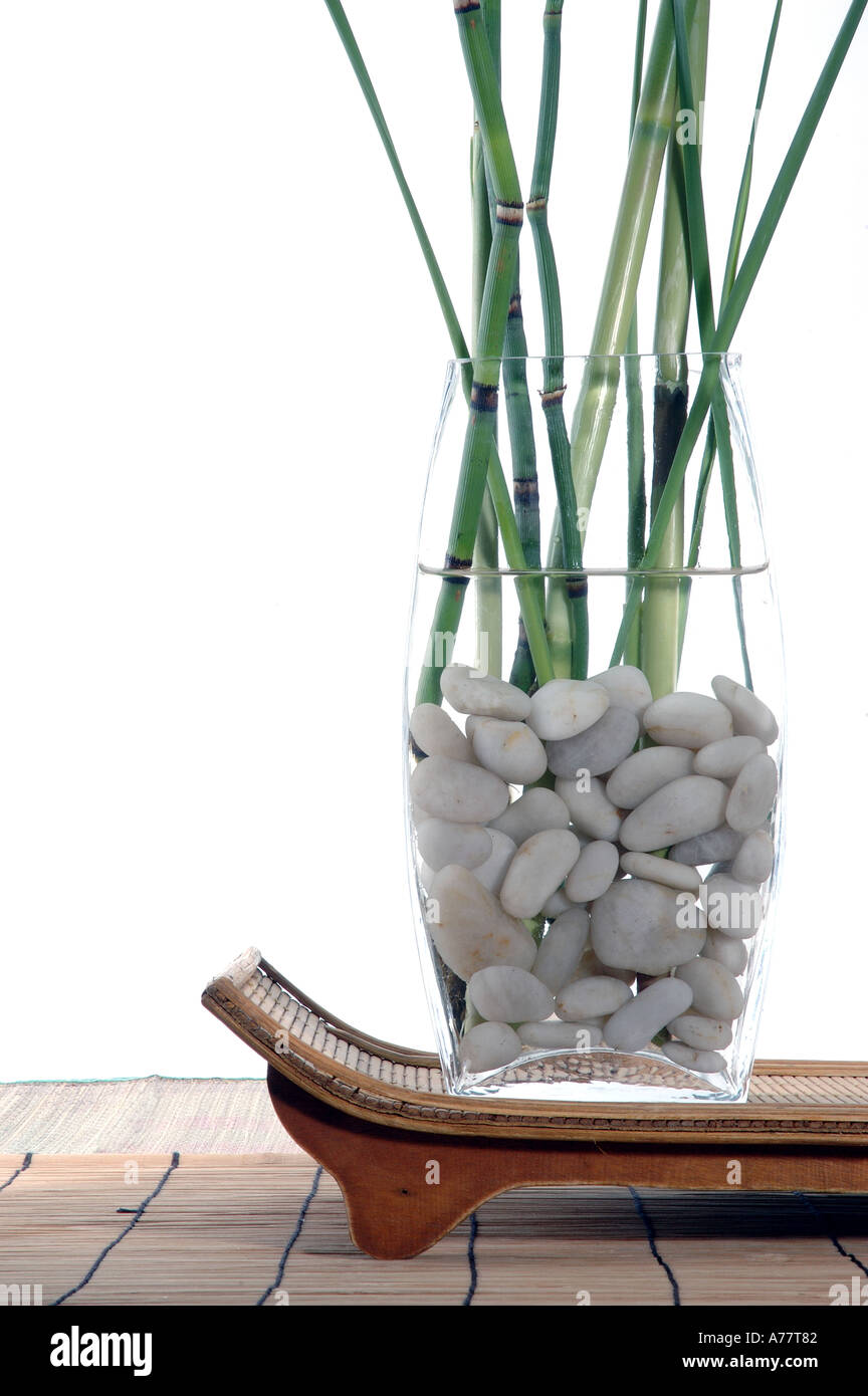 Bamboo and grasses in a white stone filled vase set upon a organic bamboo and grasses in a white stone filled vase set upon a organic tray reviewsmspy