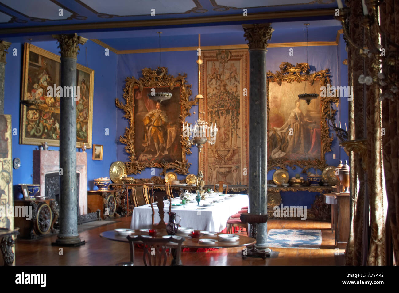 dining room in bantry house in bantry county cork ireland or eire