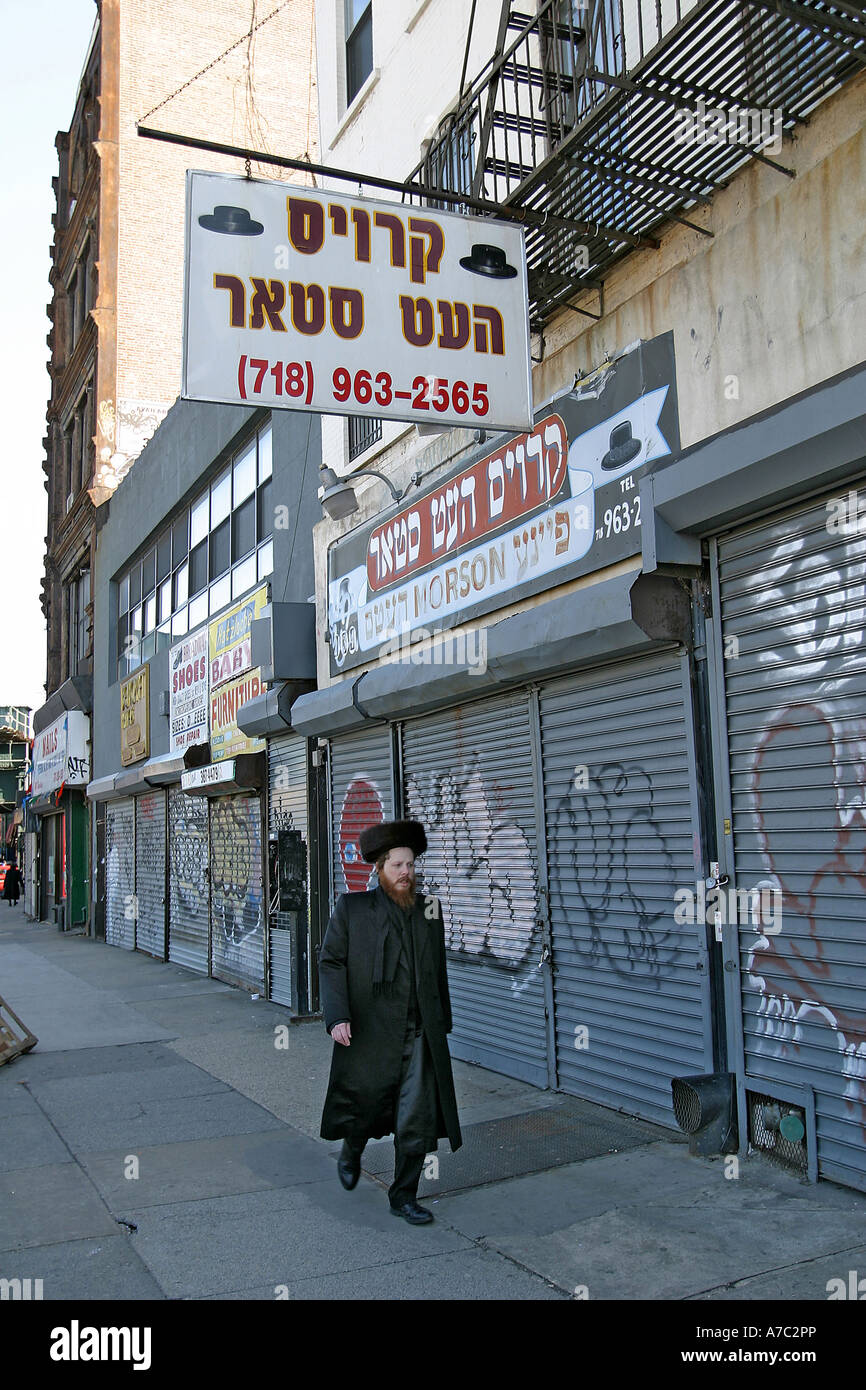 Orthodox jewish man on the street in williamsburg brooklyn for Buying a home in brooklyn