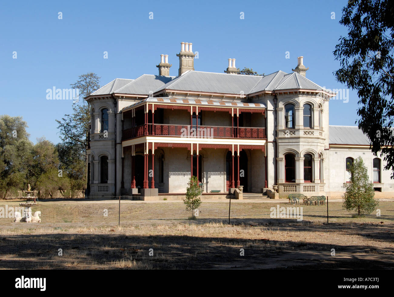 Fairfield House Rutherglen Victoria Australia Stock Photo