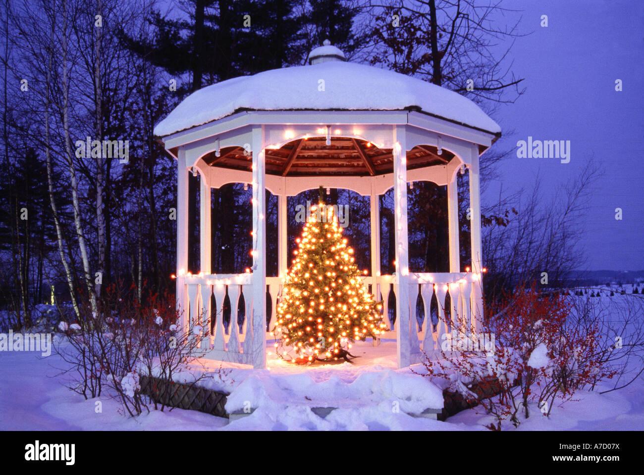 Pagoda & Christmas Tree, 'Inn At Essex' Stock Photo, Royalty Free ...