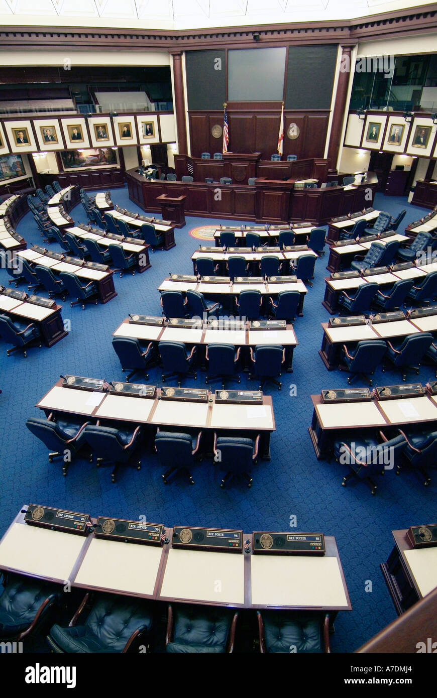 The House Of Representatives Chamber In The New Current State Capitol  Building At Tallahassee Florida FL
