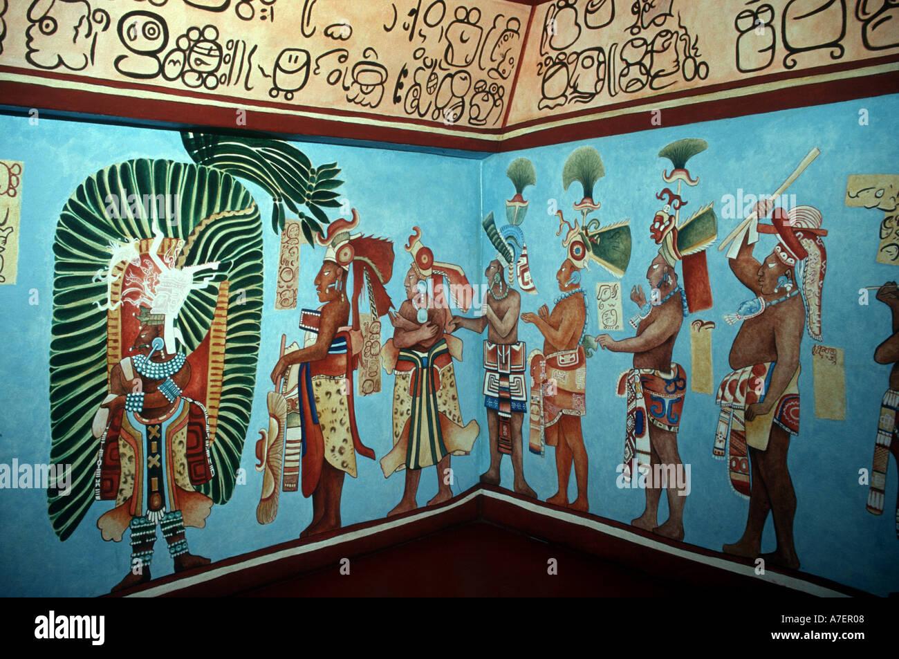 Mexico nuevo leon monterrey museum of mexican history for El mural de bonampak