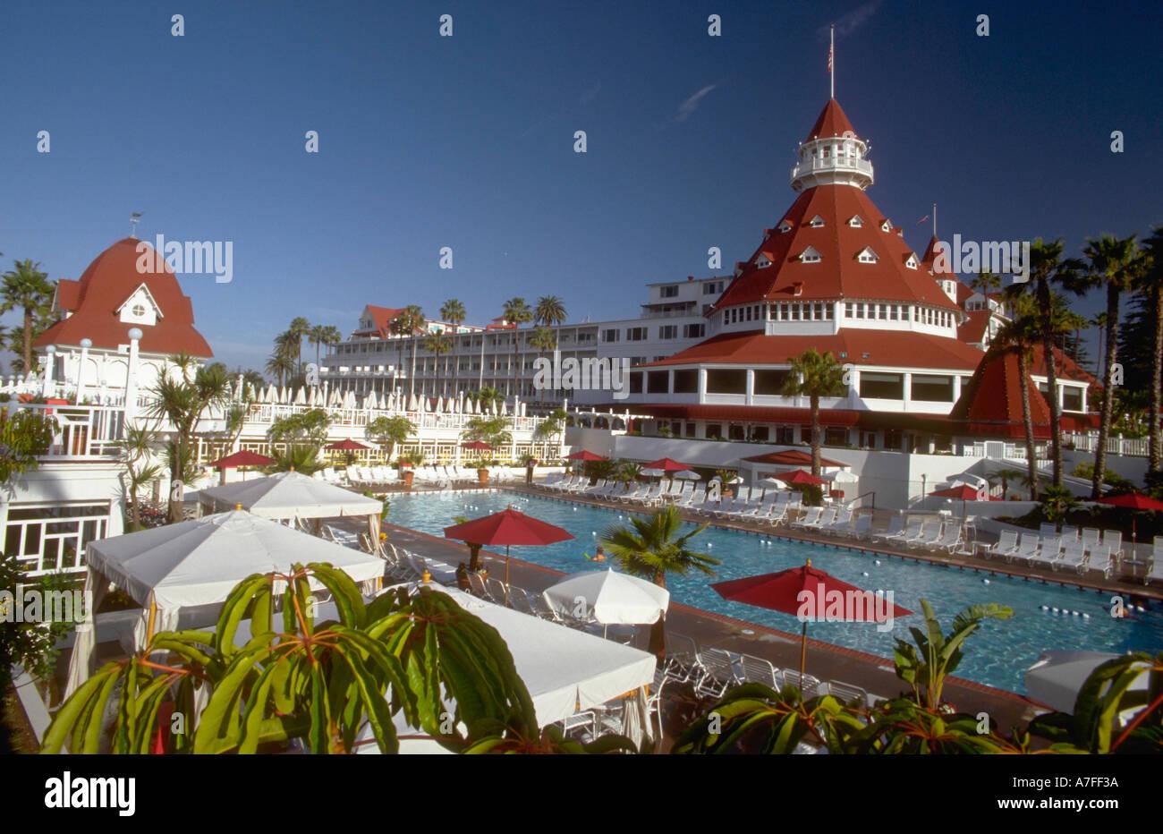 Pool And Patio Area Of Hotel Del Coronado San Diego California