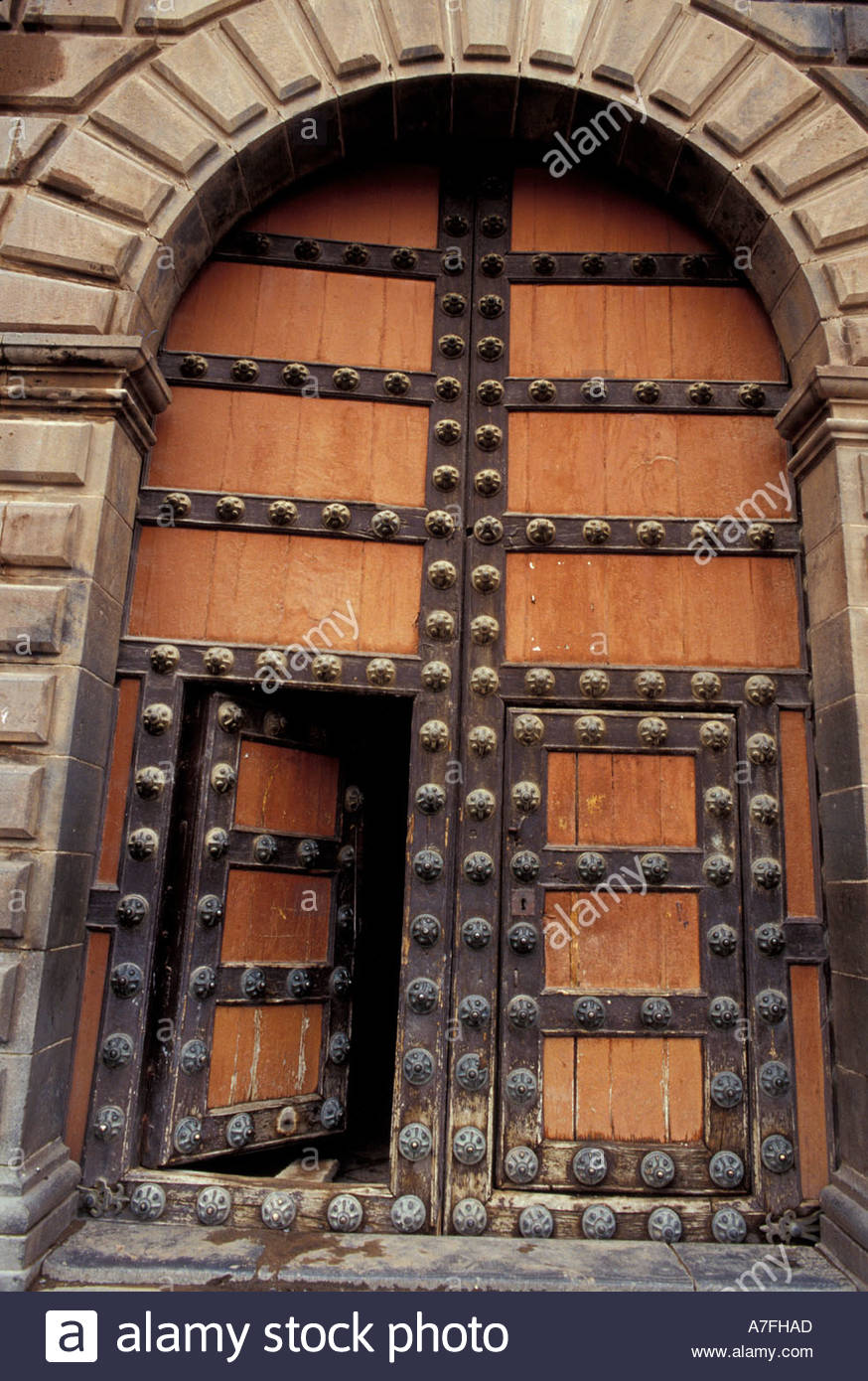SA Peru Cuzco Plaza de Armas Wooden doors of the cathedral (1669 & SA Peru Cuzco Plaza de Armas Wooden doors of the cathedral ...