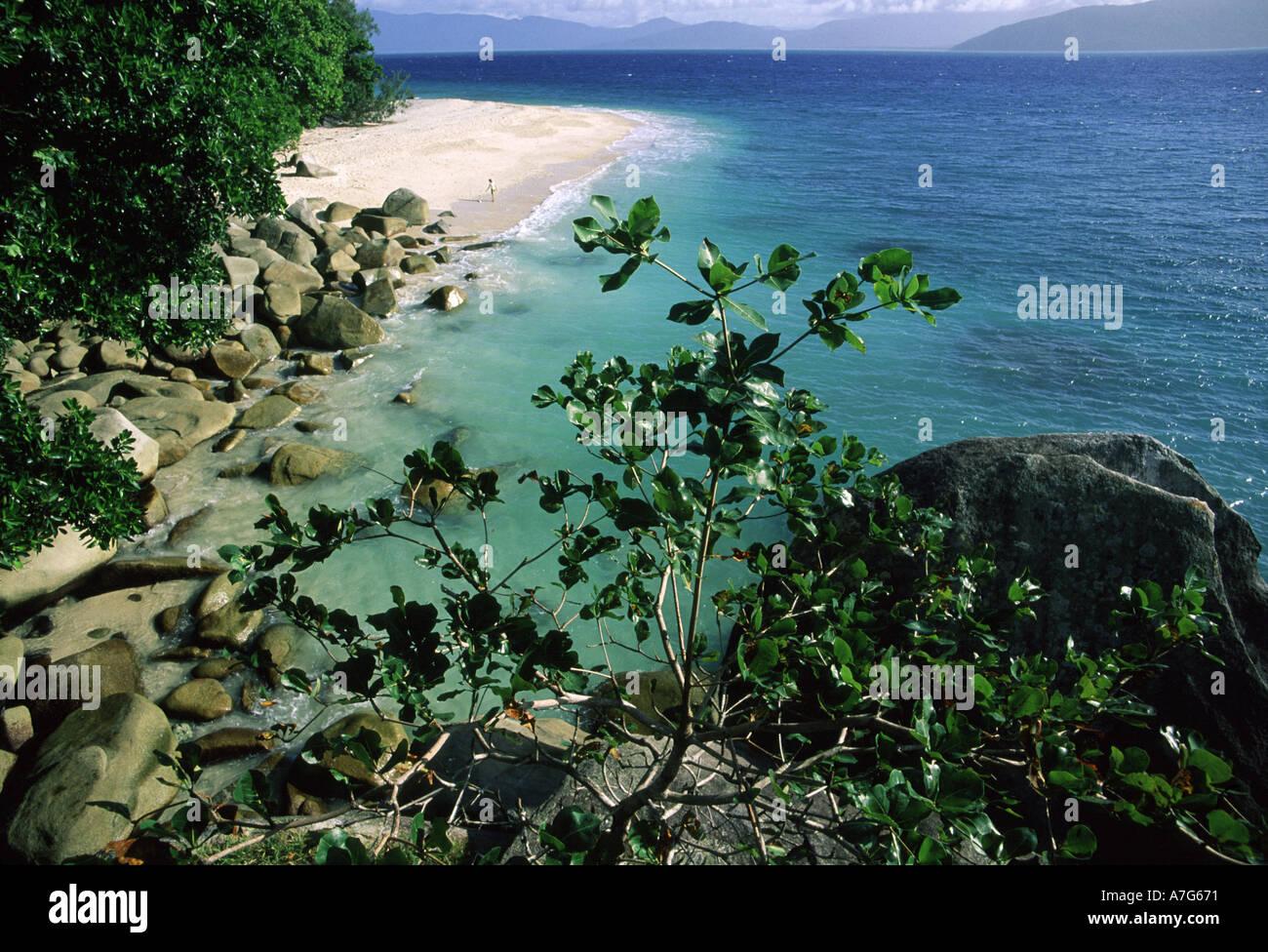 Fitzroy Island Queensland: Nudey Beach Fitzroy Island Queensland Australia Stock