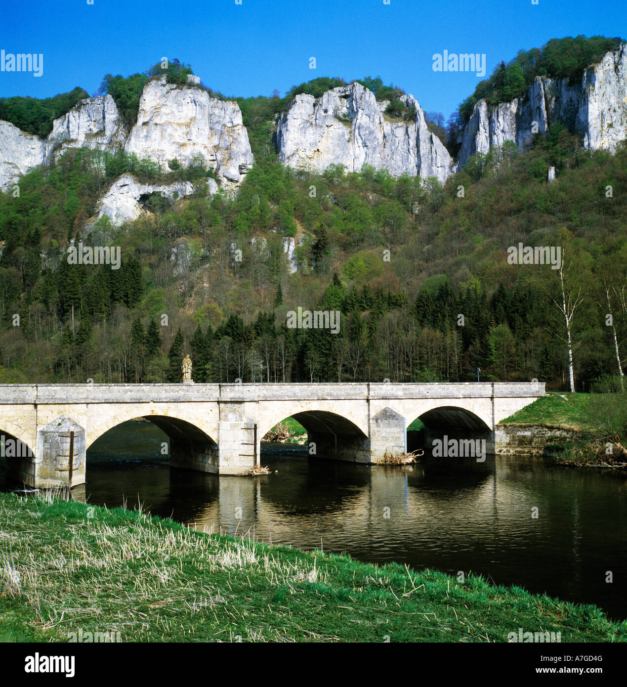 donaubruecke bei beuron hausen im tal naturpark obere donau stock photo royalty free image. Black Bedroom Furniture Sets. Home Design Ideas