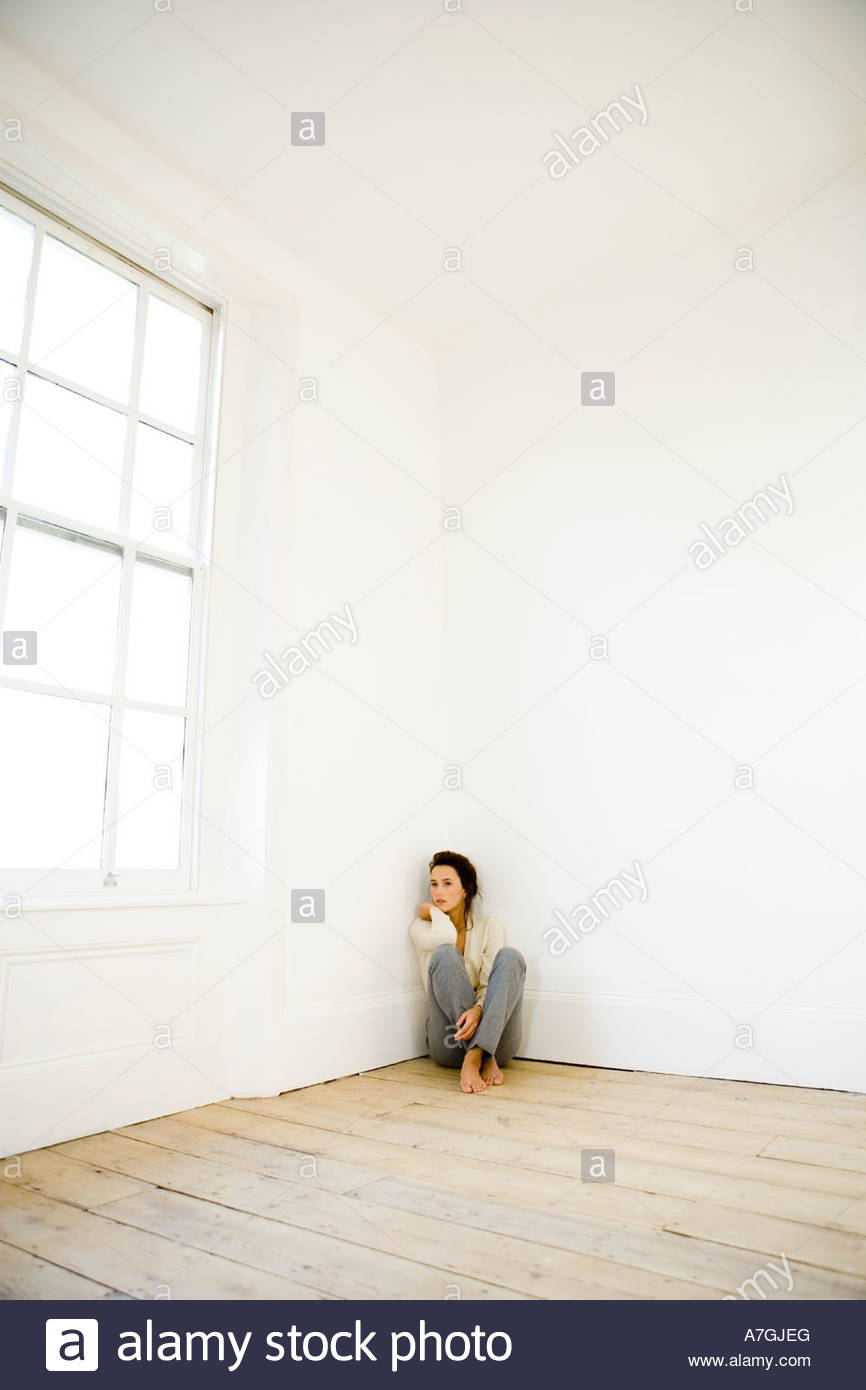 Woman in corner