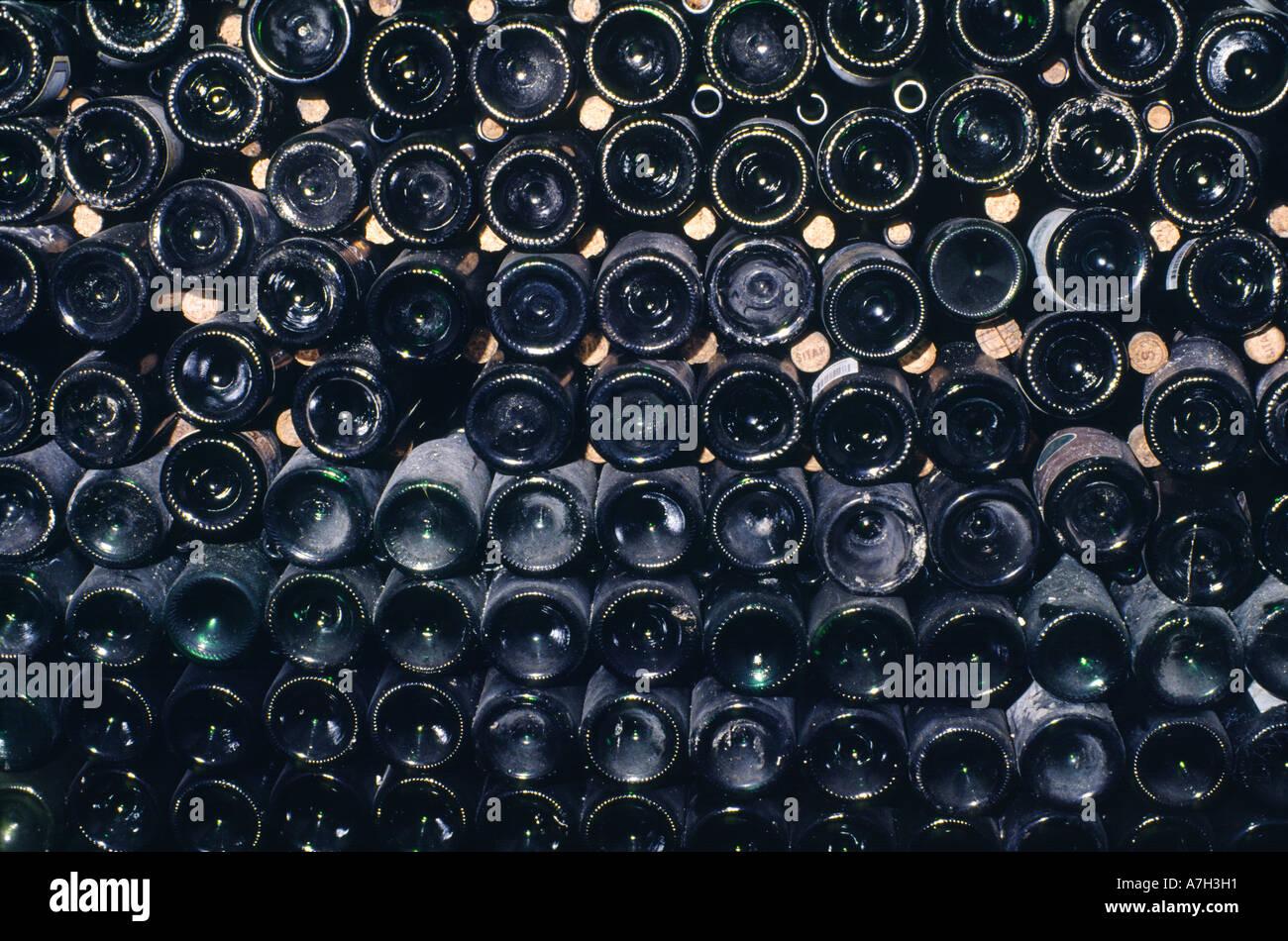Wine bottles in Loire Valley cellar of L\'espace de la Vigne et du ...