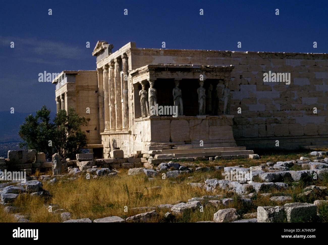 Porch of the Caryatids on the Erechtheion at the ...
