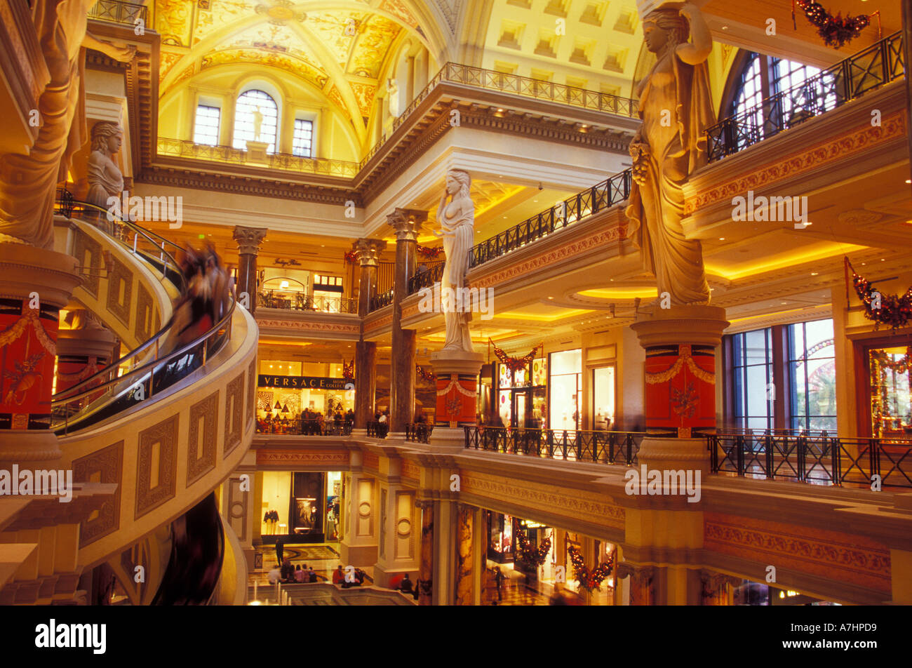inside the forum shops area at caesar 39 s palace complex las vegas stock photo royalty free. Black Bedroom Furniture Sets. Home Design Ideas