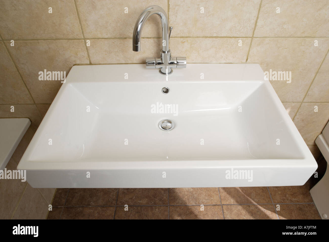 modern wash basin in bathroom Stock Photo, Royalty Free Image ...