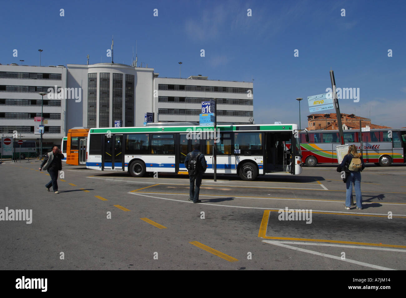 Piazzale Roma the main bus terminal and multi storey car park in ...