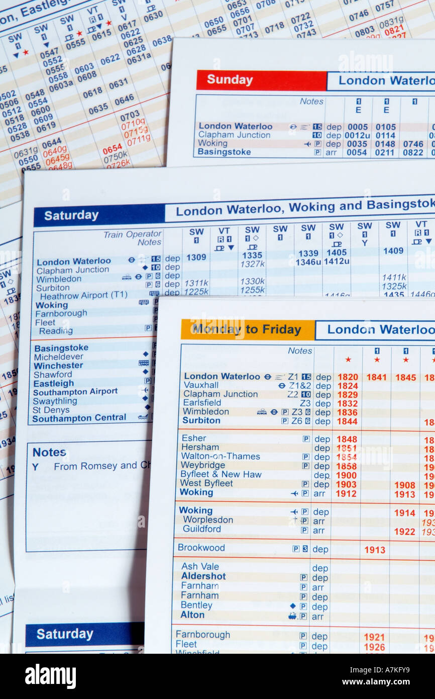 daily timetables