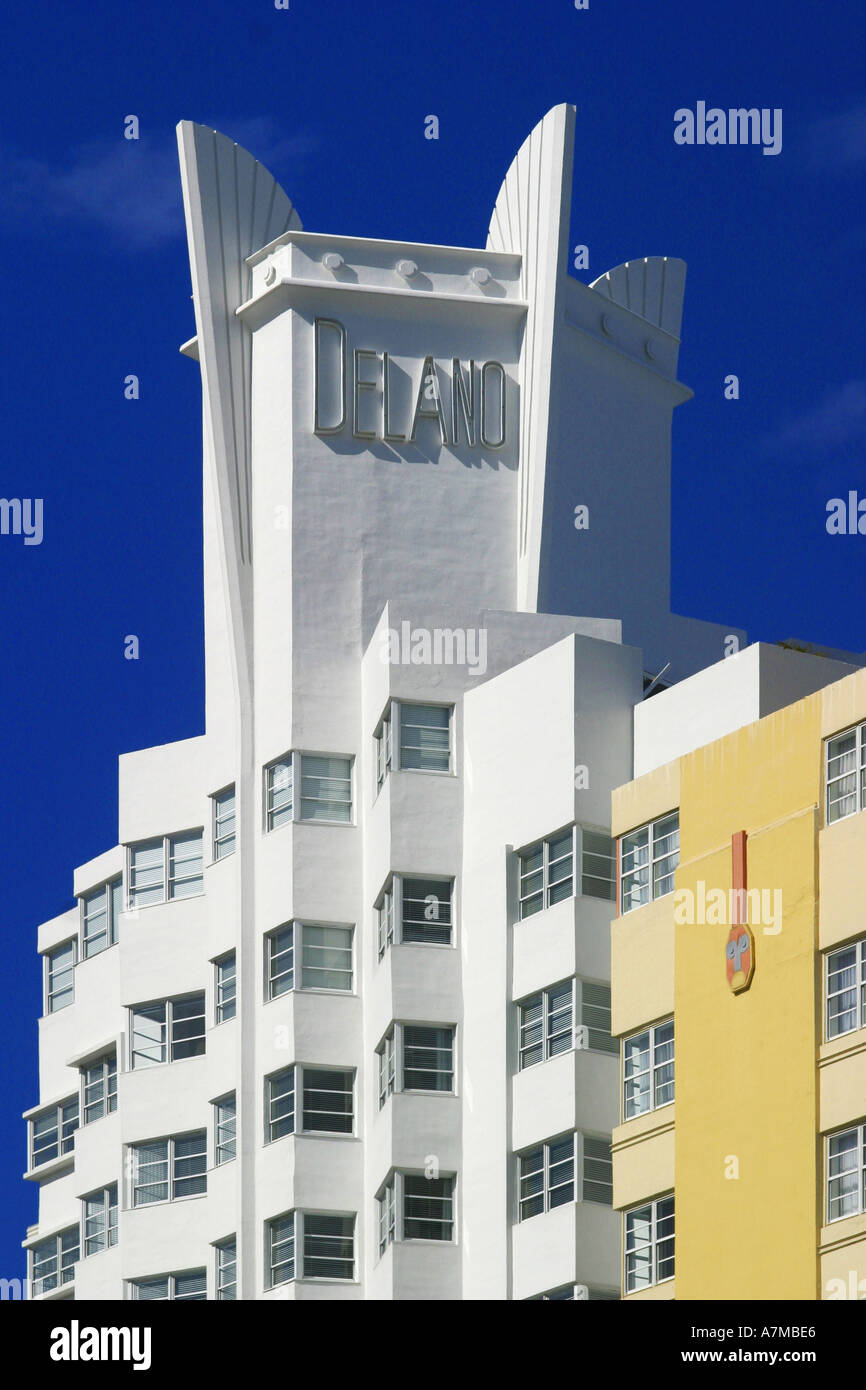 Art deco style architecture - Miami South Beach America Florida Usa Art Deco Style Architecture Building