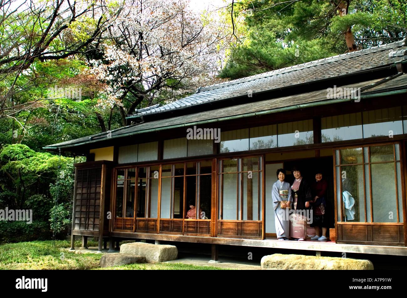 Tokyo Japan Meiji Shrine Inner Garden Tea House   Stock Image