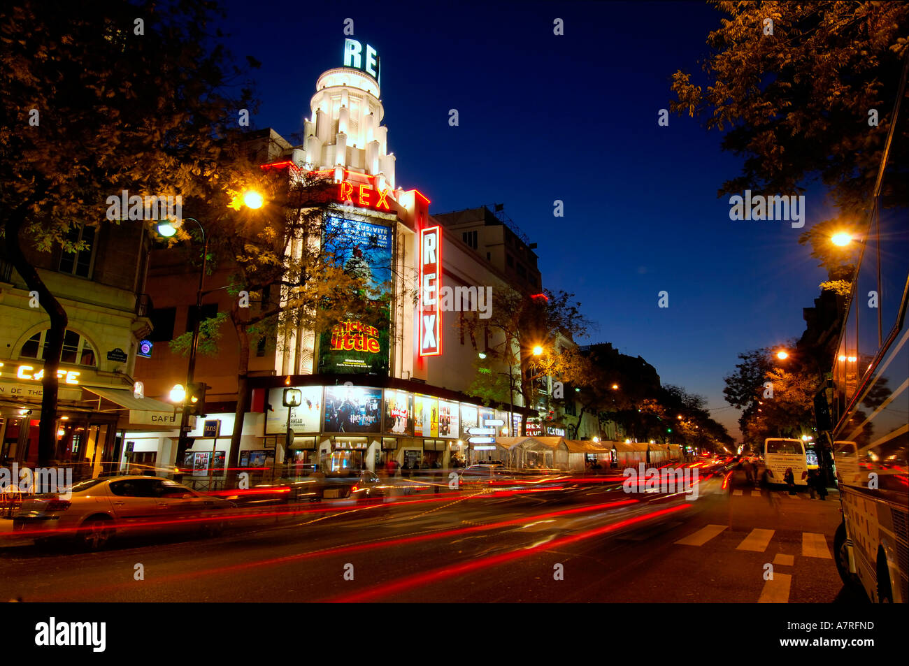 france paris grand rex cinema stock photo royalty free image 6800028 alamy. Black Bedroom Furniture Sets. Home Design Ideas