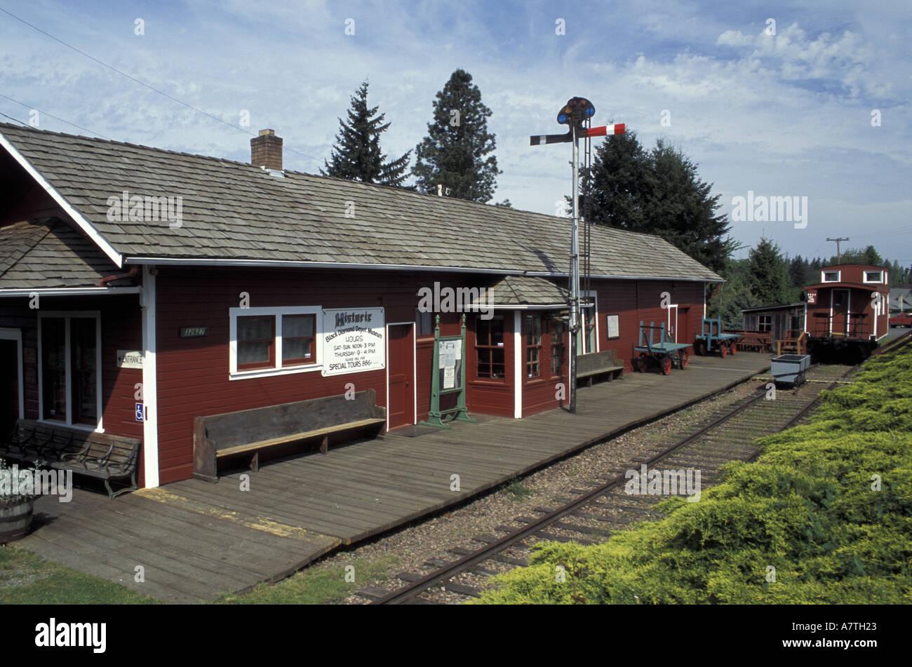 USA Washington State Black Diamond Historic Black Diamond Depot - Black museums in usa