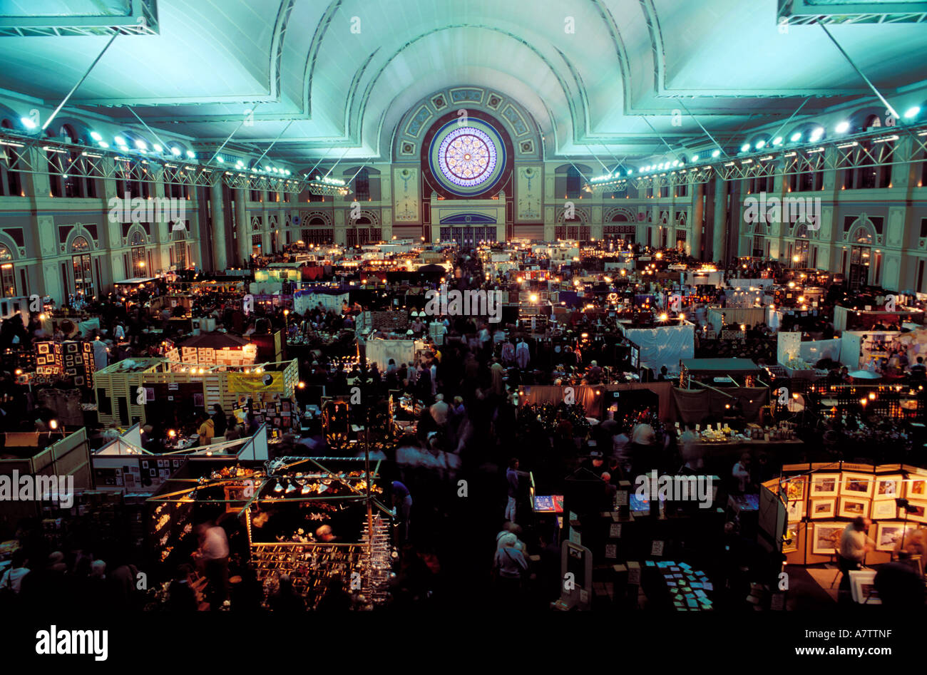 United Kingdom, London, the biggest Christmas market in Stock ...
