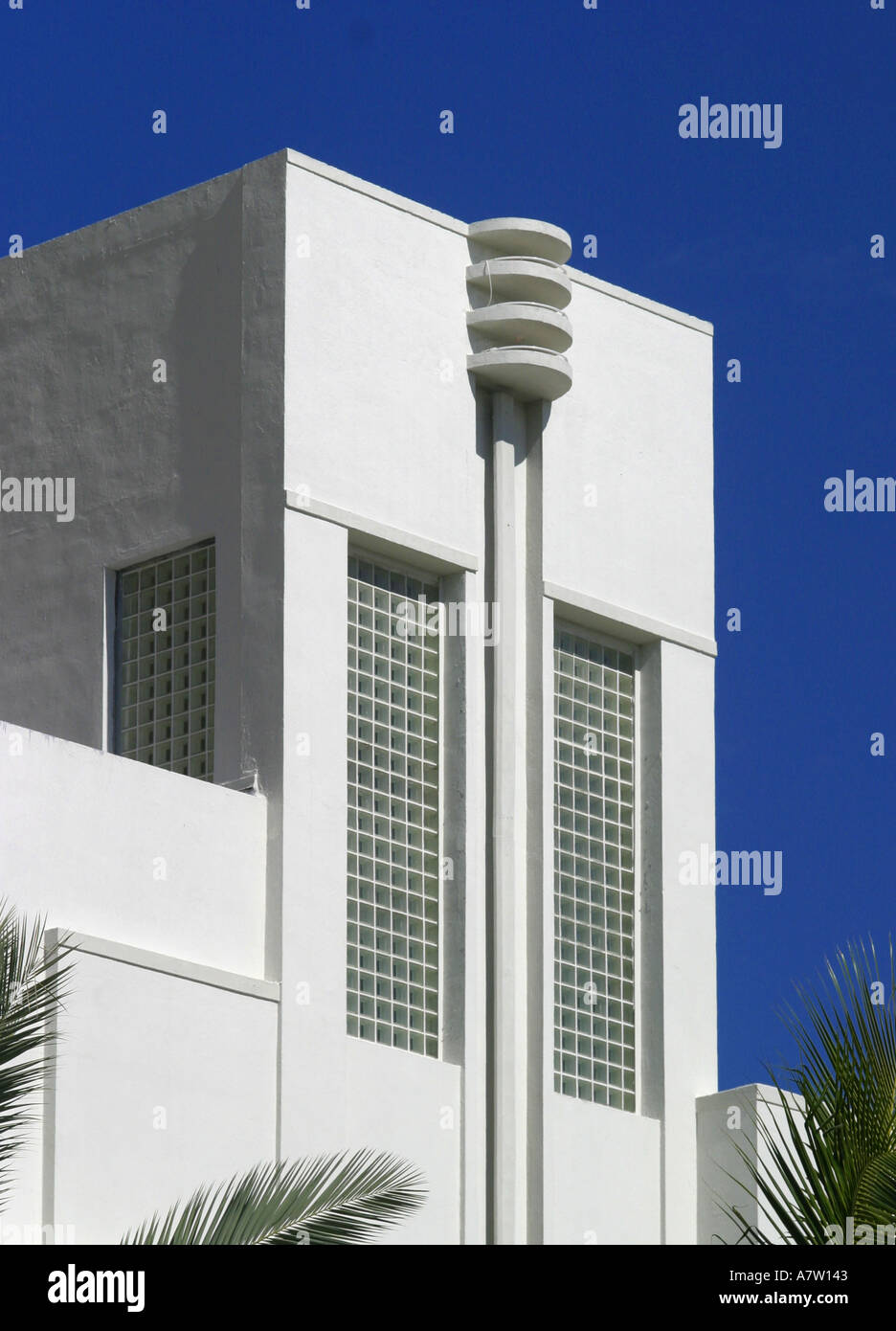 Art deco style architecture - Miami South Beach America Florida Usa Art Deco Style Architecture Building E