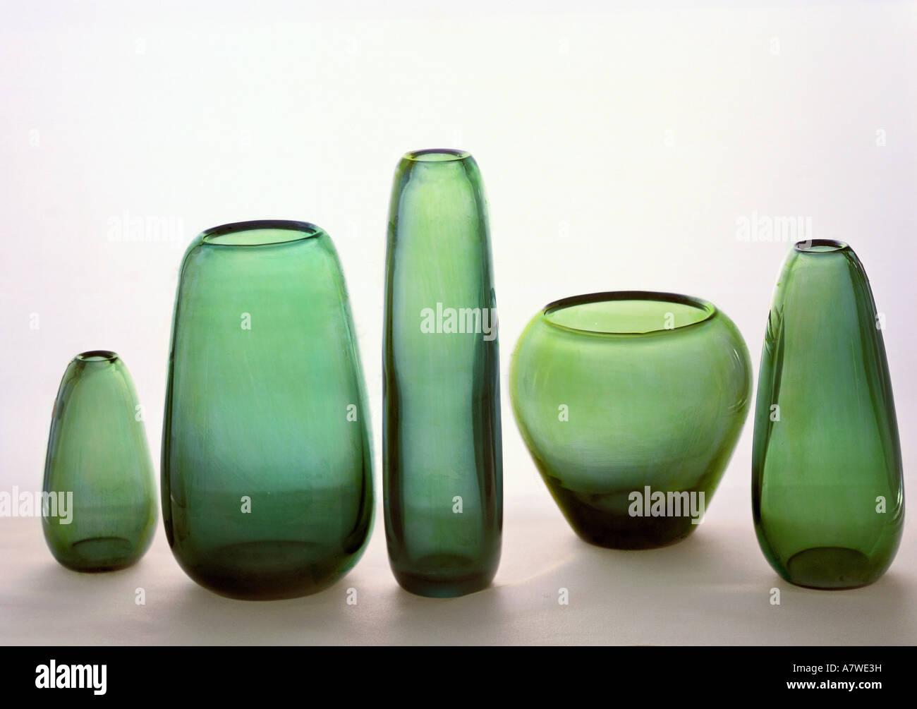 Fine arts glass vases from green glass design by wilhelm fine arts glass vases from green glass design by wilhelm wagenfeld 1900 1990 germany circa 1955 die neue sammlung mun reviewsmspy