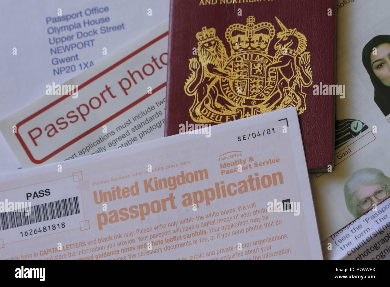 Uk passport application form stock photo royalty free image uk passport application form falaconquin