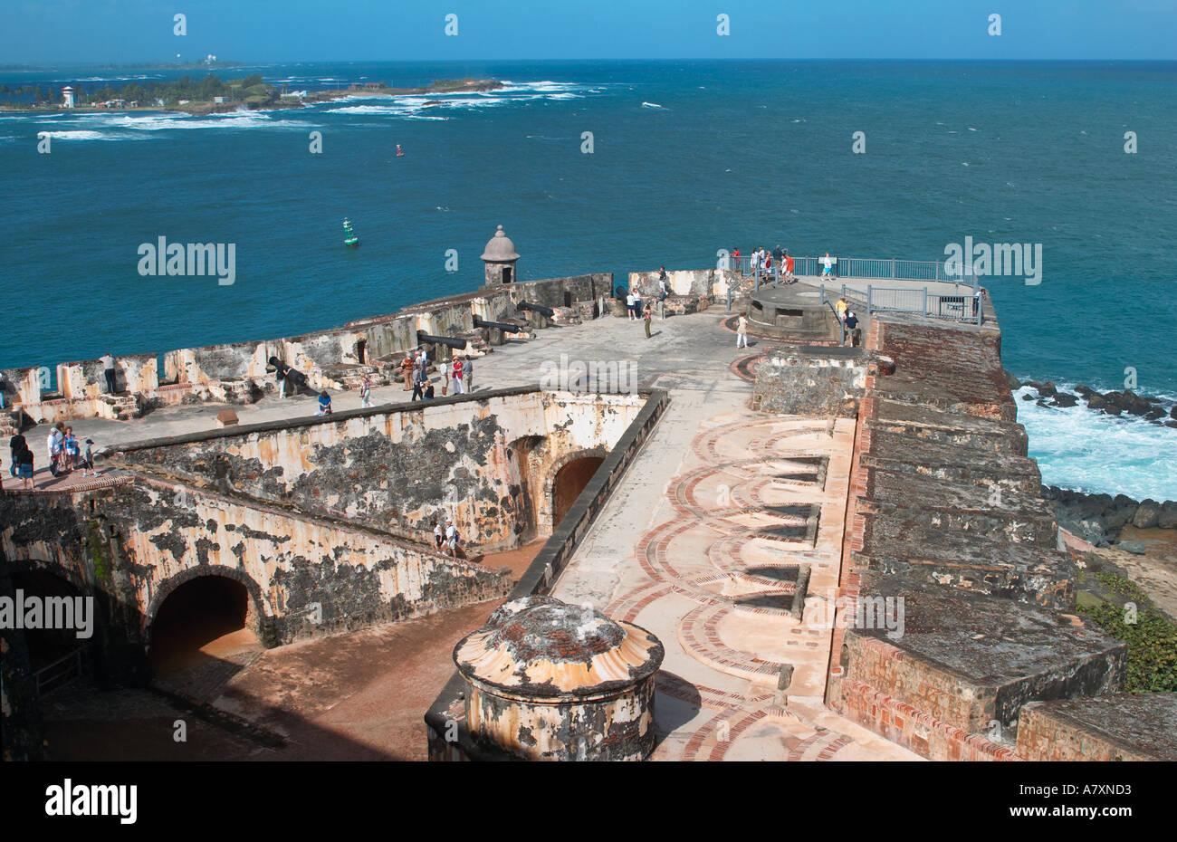 PUERTO RICO San Juan El Morro Fortress Built In 1540 Old San Juan  Observation Deck Spanish Military Fort