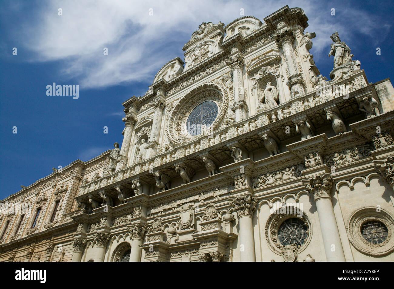 italy, puglia, lecce, baroque architecture in southern italy, 17th