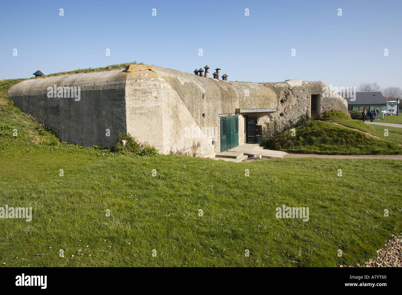 number 1 casemate at the merville battery merville normandy france stock photo royalty free. Black Bedroom Furniture Sets. Home Design Ideas