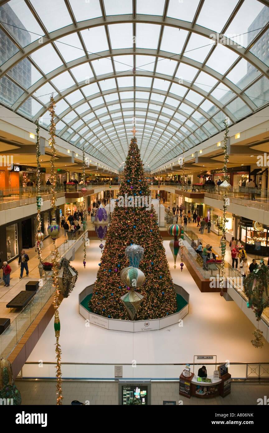 Usa Texas Houston Houston Galleria Mall Christmas Tree