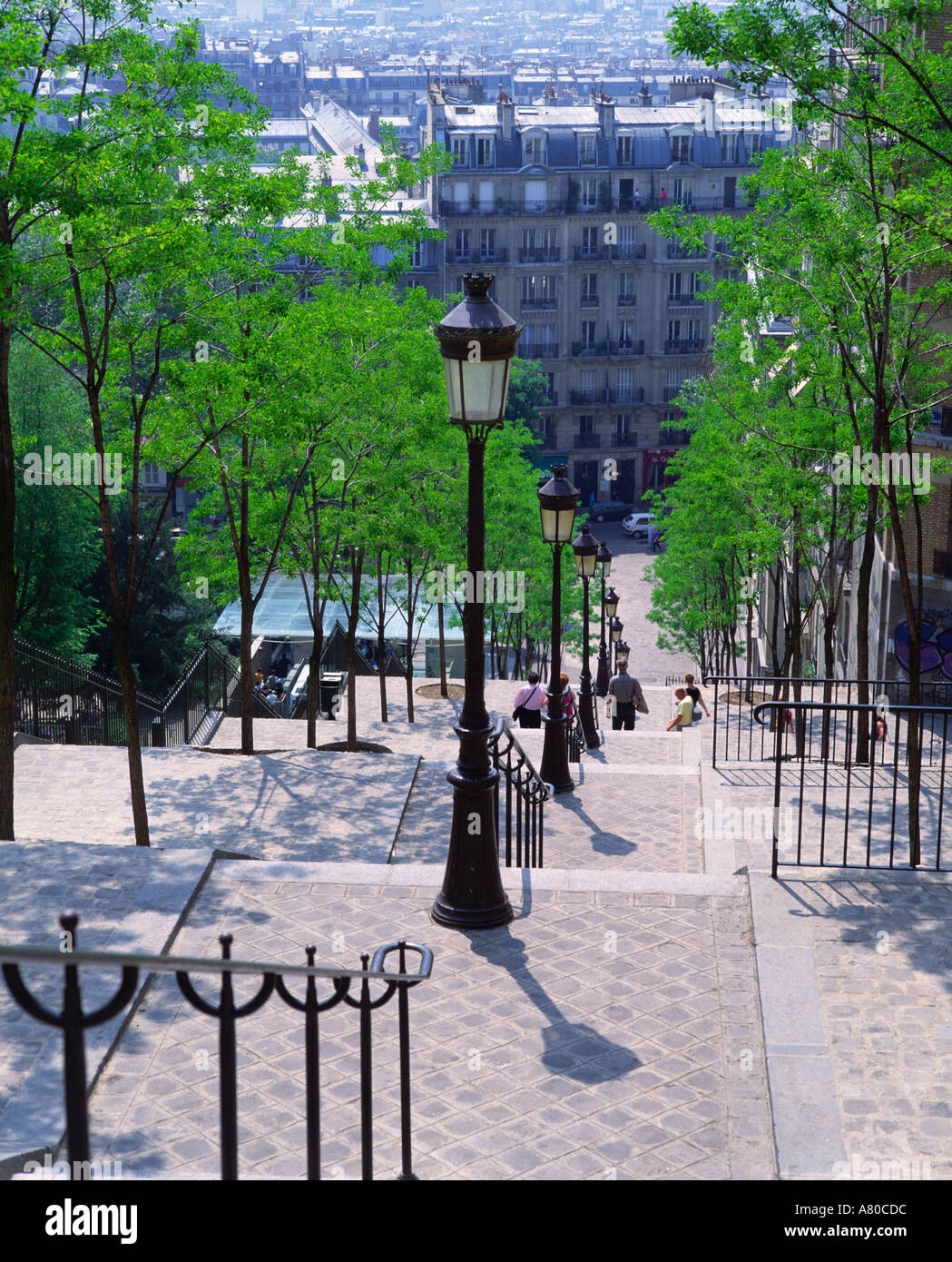les escaliers de la butte montmartre paris france stock photo royalty free image 527580 alamy. Black Bedroom Furniture Sets. Home Design Ideas