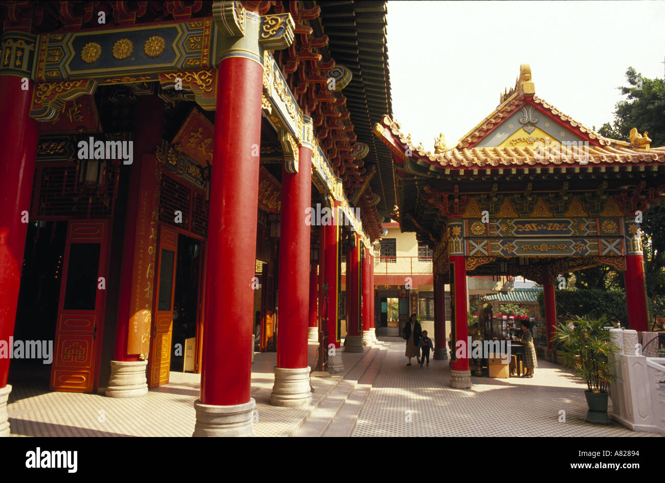 chinese architecture in ching chuen koong temple ching chung koon