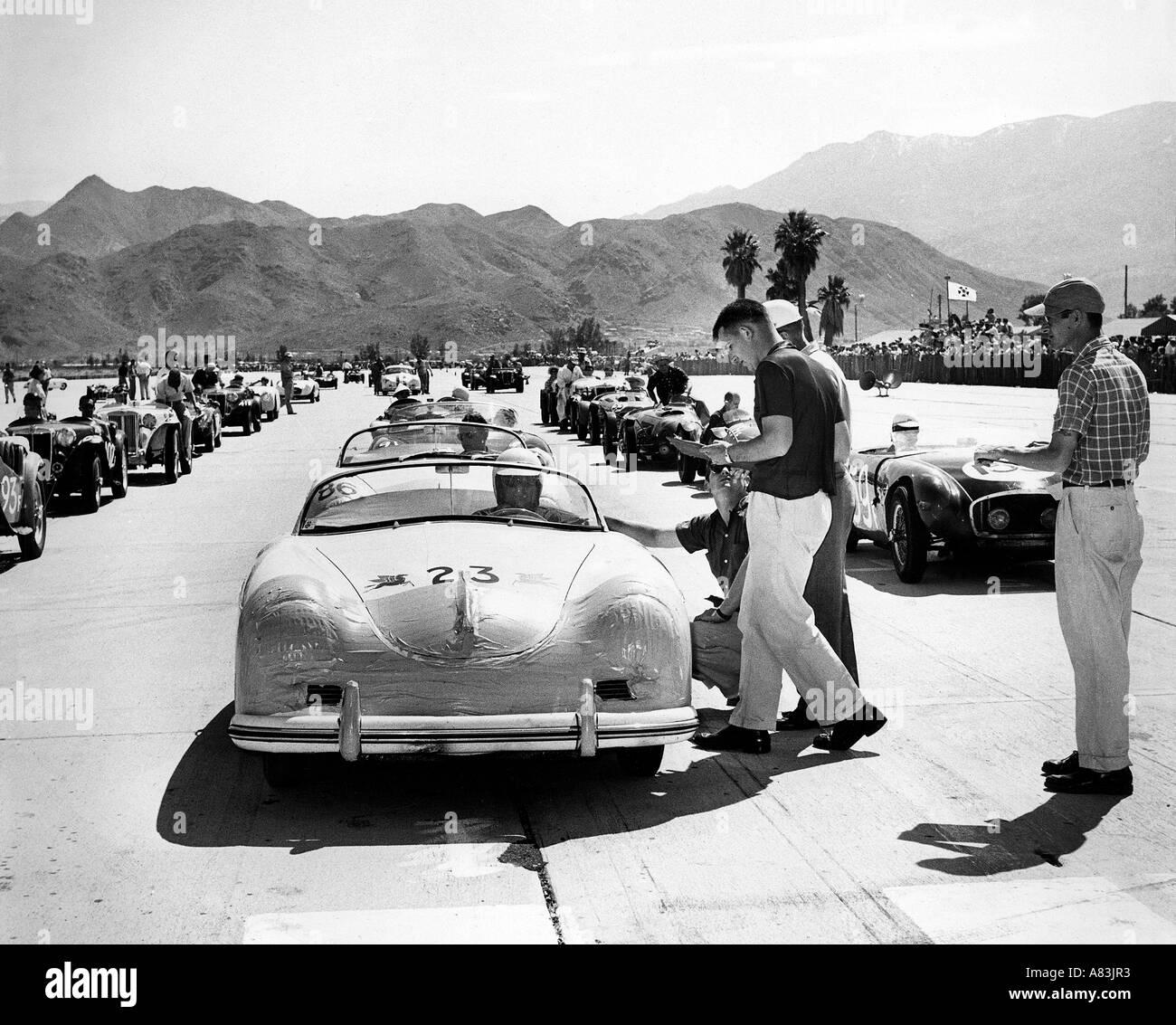 JAMES DEAN In A 1950s California Car Race Event Stock