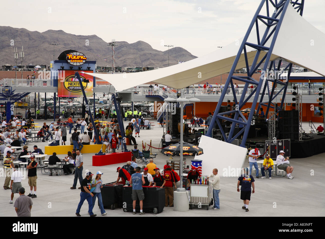 The neon garage at a nascar race at the las vegas motor for Las vegas motor speedway open track days