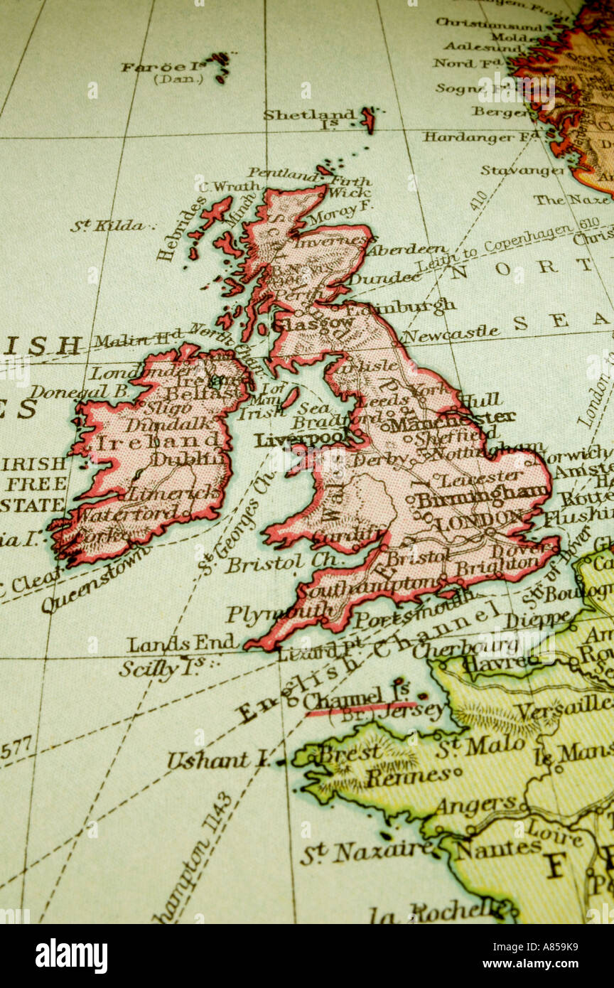 Old Map Of Great Britain Stock Photo Royalty Free Image - Map of great britain