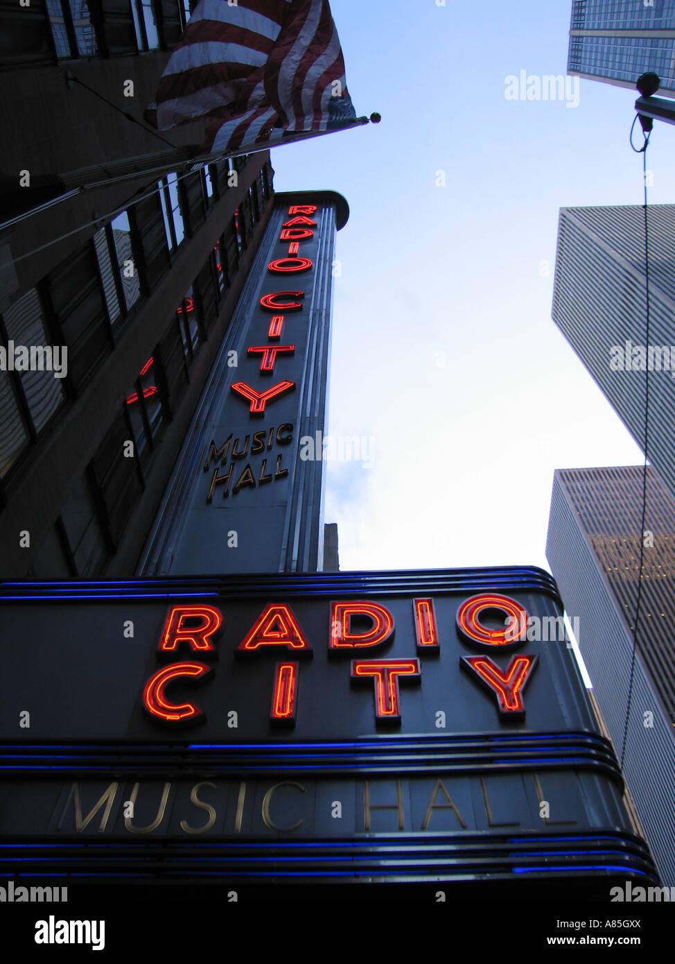 American Flag Flying Outside Radio City Music Hall New ...