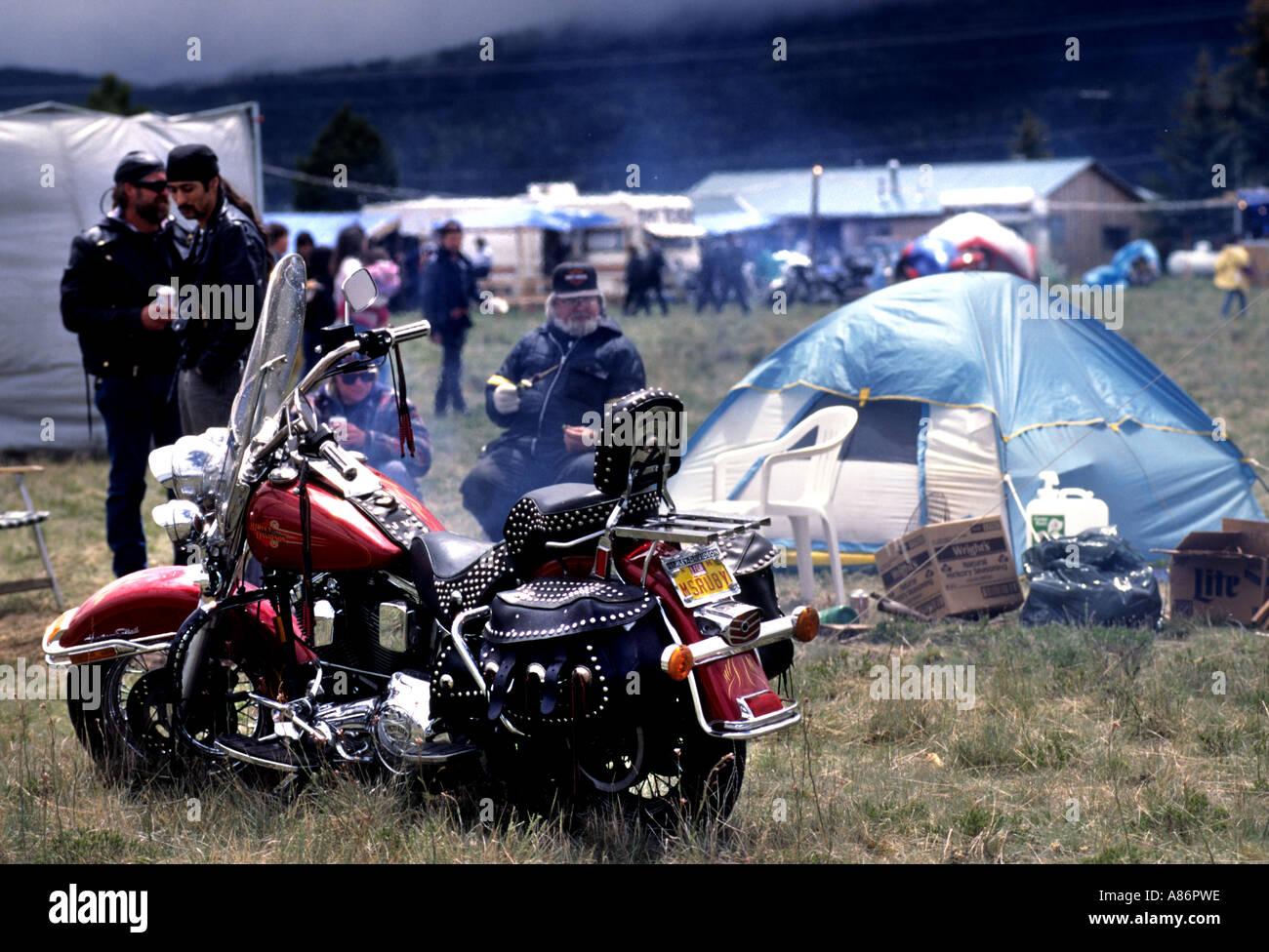 Harley Davidson motorcycle motorbike people biker c&ing tent & Harley Davidson motorcycle motorbike people biker camping tent ...