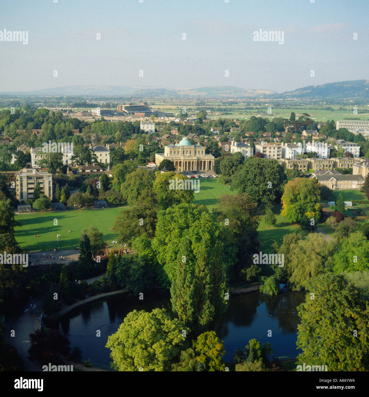 Pittville Home: Aerial View Pittville Park And Pump Room Cheltenham Spa UK